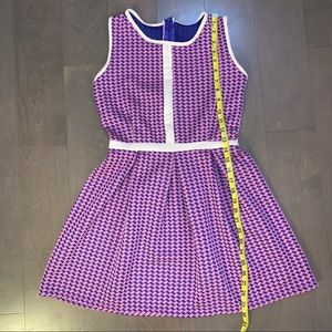 🎀 Pink & Blue Mini Dress Sleeveless